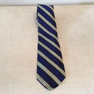 NWT Brooks Brothers Blue & Yellow Striped Tie
